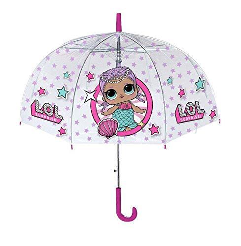 LOL Surprise Paraguas Transparente 42cm Paraguas Clásico