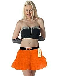 Crazy Chick 2 Layers Women Orange Tutu Skirt Hen Night Party, Halloween Tutu Skirts