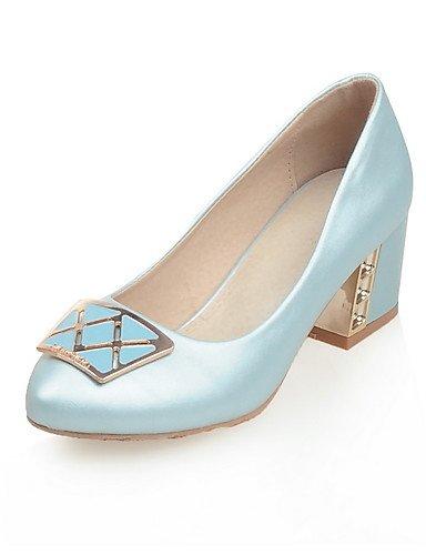 WSS 2016 Chaussures Femme-Bureau & Travail / Décontracté-Bleu / Rose / Blanc-Gros Talon-Confort / Bout Pointu-Chaussures à Talons-Polyuréthane white-us9 / eu40 / uk7 / cn41