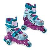 Mondo Toys-Disney Frozen II-3 In Line Skates-pattini doppia funzione regolabili-Ruote PVC-roller bambina-Size S/mis. 29/32-28299, Multicolore, 8001011282999
