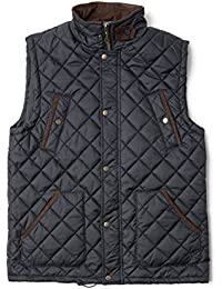 VEDONEIRE Mens Quilted Gilet (3033 NAVY) padded sleeveless vest