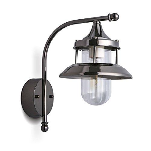 KMYX Campagne américaine verre abat-jour Applique Murale Vintage Fer Simple Lampe Murale Avec E27 Socket Pour Maison, Bar, Restaurants, Café, Club Décoration Luminaire Murale