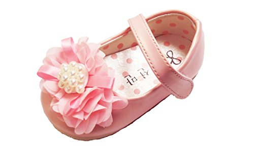 Cinda Baby- Blumen-Schuhe Rosa
