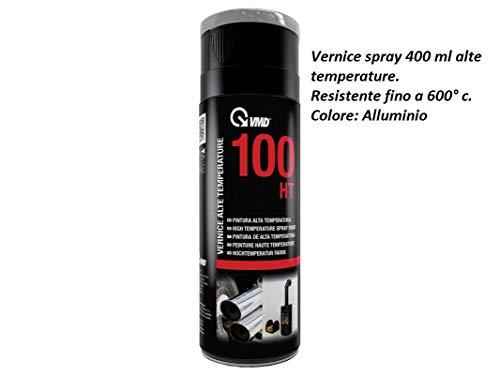 VMD bomboletta 400 ml vernice spray colore Alluminio alte temperature per camini stufe forni barbecue resistente fino a 600° c.