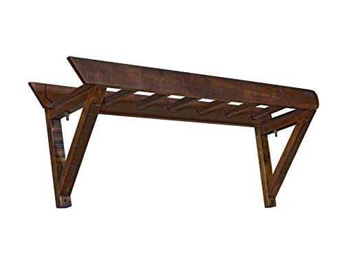 Woodkings Garderobe Woodend, Akazie massiv, Flurmöbel Vintage, Wandgarderobe, Kleiderhaken, Leiter Design, Dielenschrank