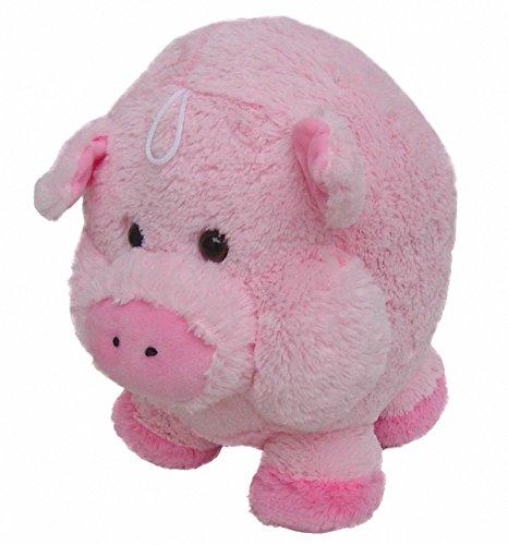 Preisvergleich Produktbild süßes superweiches Stofftier Kuscheltier Kugel Schwein aus Mikrofaser rosa, voll waschbar bei 30 Grad, Ø ca. 16 cm