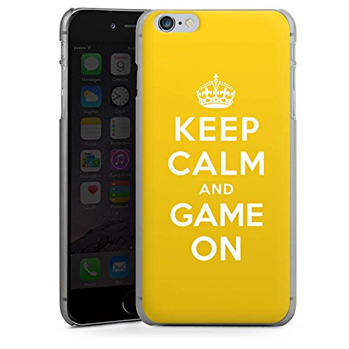 Apple iPhone X Silikon Hülle Case Schutzhülle Keep Calm Gaming Statements Hard Case anthrazit-klar