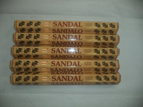 hem-sandal-sandalwood-100-incense-sticks-5-x-20-stick-packs-by-hem