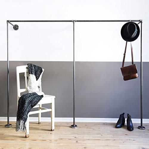 Offener Kleiderschrank Duo Low, Industrial Design aus Wasserrohr, Garderobenschränke aus Wasserrohr...