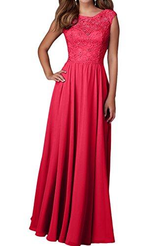 Charmant Damen Lilac Langes Chiffon Abendkleider Ballkleider Etuikleider Festliche Kleider Brautjungfernkleider Rot