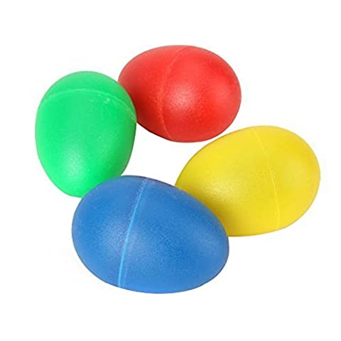 Percussion Musical Egg Shakers - TOOGOO(R)4 Colors Plastic Percussion Musical Egg Maracas Egg Shakers Kids