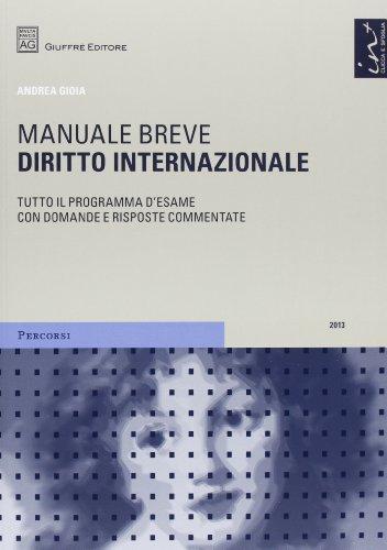 Diritto internazionale. Manuale breve