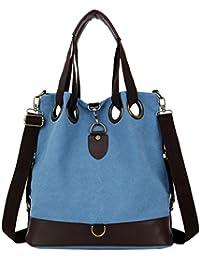 Kywa Vintage Retro LARGE Hobo Shoulder Bag Womens Canvas Casual Purse Bucket Crossbody Bag Tote Bag