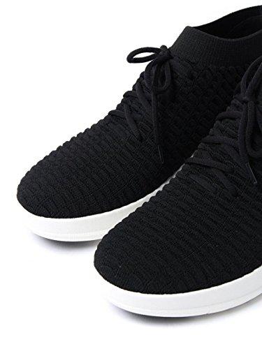 FitFlop Uberknit Slip-On Hightop Sneaker In Waffle Knit Black