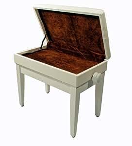 klavier bank piano hocker weisse klavierbank edel musikinstrumente. Black Bedroom Furniture Sets. Home Design Ideas