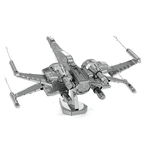 Metal Earth - Fascinations, Star Wars Poe Dameron's X-Wing Fighter 3D metal puzzle, quality laser cut models, 3D Rompecabezas de metal