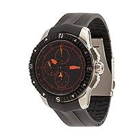 ساعة تي نافيجيتور اوتوماتيك من تيسوت بسوار مطاطي للرجال T062.427.17.057.01