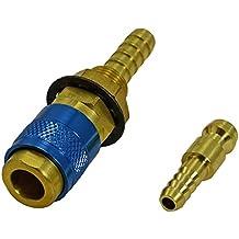Soldadura TIG Gas y Agua conector rápido Montaje de conector de la manguera 1 Conjunto Azul