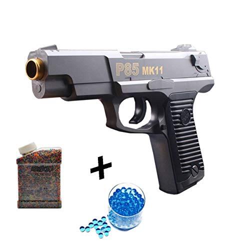 JINGYUAN Wasserbombenpistole, manuelle Kapitän-Einzelhaar-Kristallpistole 1: 1 Kinder-Spielzeugpistole + 20000 Wasserbombe