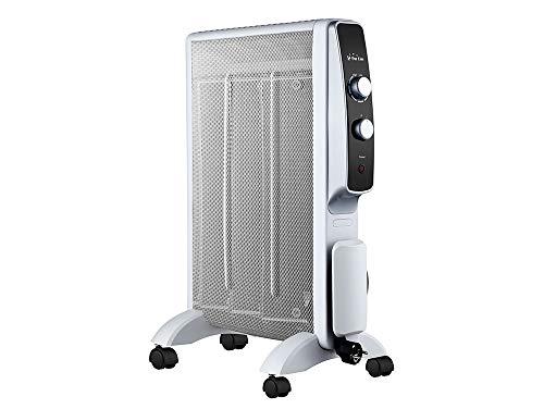 PURLINE Calefactor Radiador Eléctrico Bajo Consumo con Panel de Mica hasta 1500W, Termostato Regulable...