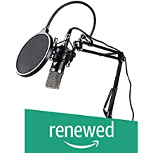 (Renewed) Maono AU-A03 Condenser Microphone Kit Podcast Mic with Boom Arm Microphone Stand (Black)