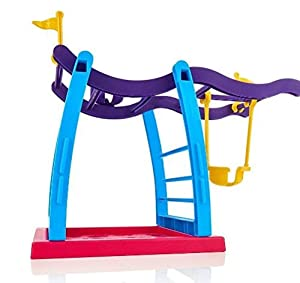 Fingerling Baby Monkey Toy Escalade Frame Climbing Stand Balanc?n Swing Set (Monkey no Esta Incluido) de MTSZZF