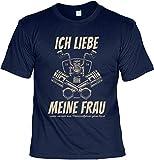 smurfbay Biker T-Shirt - Liebe Meine Frau wenn Sie Mich zum MotorRadFahren Gehen lässt - Präsent für Motorrad-Fahrer
