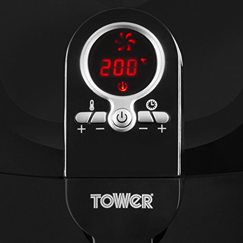Tower T14004 Low Fat Rapid Air Fryer with Digital Timer, 1400 W, 3.2 L - Black