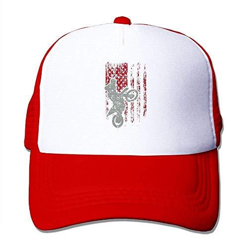 Voxpkrs Motocross USA Flagge Adjustbale Baseballmützen Sommer Sun Hat Tracker Cap U8I001898
