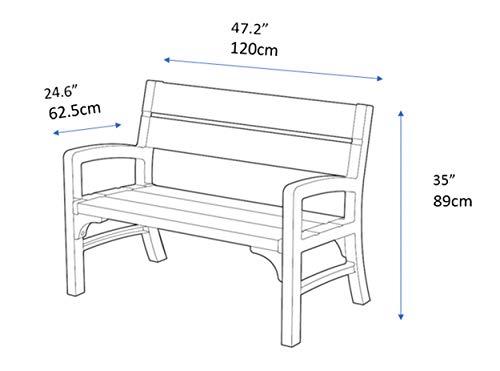 Keter Lounge Sofa, Montero Gartenbank - 7
