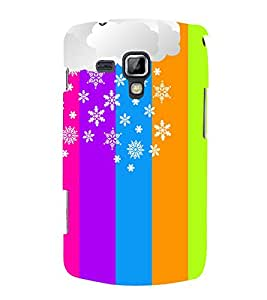 Rangoli Pattern Design 3D Hard Polycarbonate Designer Back Case Cover for Samsung Galaxy S Duos S7562