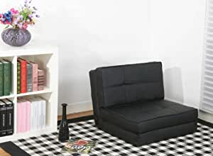 fauteuil chauffeuse convertible en lit d 39 appoint noir. Black Bedroom Furniture Sets. Home Design Ideas