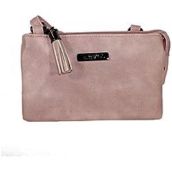 New Bags Mini-Ausgehtasche Handtasche Umhängetasche klein (rosa)