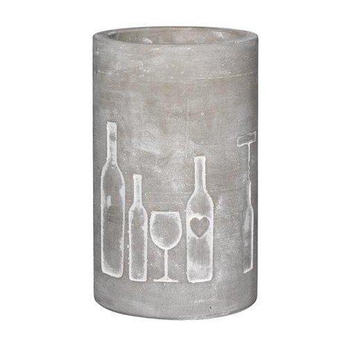 P.e.T. Vino Beton Weinkühler Design: Flasche und Glas
