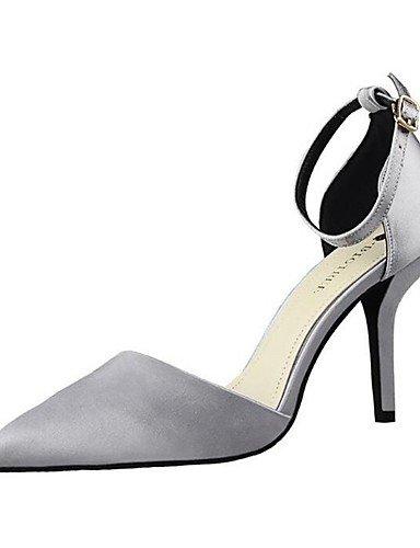 WSS 2016 Chaussures Femme-Mariage / Habillé / Soirée & Evénement-Noir / Vert / Rose / Argent / Fuchsia-Talon Aiguille-Talons / Bout Pointu-Talons- black-us6.5-7 / eu37 / uk4.5-5 / cn37
