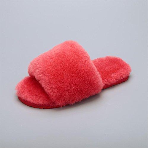 Mhgao da donna casual Slipper indoor casa per autunno/inverno pelliccia pantofole 8