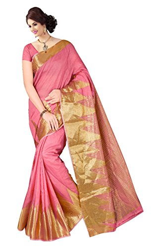 Boutique On Palm Bollywood Style New Generation Concept Party Wear Cotton Sarees (Peach Jacquard Yelook)