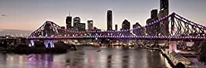 Artis 605476 Décoration Murale Impression sur Verre Glassart 35X105 cm City Bridge