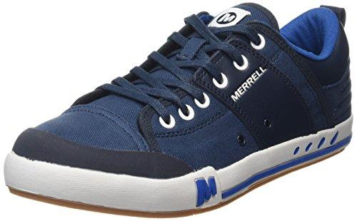 Indigo Leder High Heels (Merrell Herren RANT Sneaker, Blau (Indigo), 40 EU)