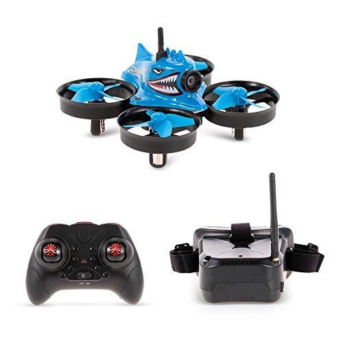 Goolsky Blue Shark Micro Tiny 5,8G 1000TVL Kamera Coreless RC Racing Quadrocopter RC Drohne mit FPV Schutzbrille RTF