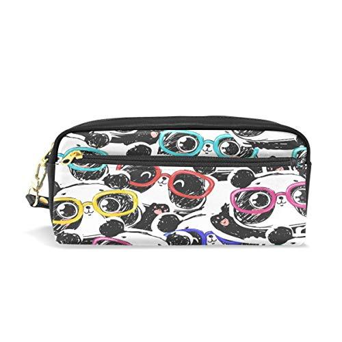 ea31e17a6de0 Pen Case Stationary Seamless Cartoon Panda Colorful Pattern Pencil Bags  Portable Pouch for School Kids Children Cosmetic Bag Makeup Beauty Case