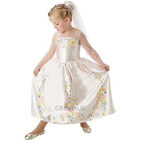 Oficial Niña Disney Cenicienta Novia Boda Princesa Día Del Libro Disfraz