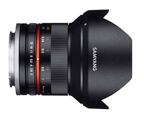 Samyang 12 mm F2.0 Manual Focus Lens for Micro Four-Thirds - Black