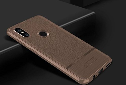 outlet store 46dd5 a8c44 Xiaomi Redmi Note 5 Pro Case,Brushed Leather (Gold),Back Cover for redmi  Note 5 Pro