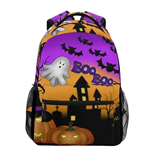 WowPrint Halloween-Motiv Rucksack Büchertasche Schulrucksäcke Rucksack Wandern Daypack für Mädchen Kinder Jungen Damen Herren Unisex