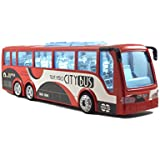 Breno Bus Toys For Kids, Luxury Bus Toy, Push And Go Toy, Toy Bus For Boys, Bus Toy Model, Red Color