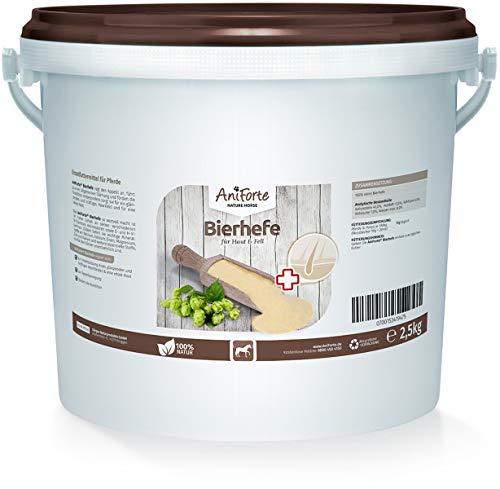 AniForte Reine Bierhefe für Pferde 2,5kg - Naturprodukt für Haut & Fell, Glänzendes und kräftiges Haarkleid, Vitale Haut, Reich an B-Vitaminen, Mineralien, Spurenelementen
