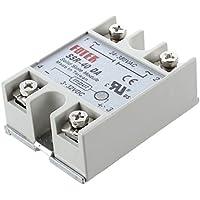 SODIAL(R) Rele de Estado Solido Control de Temperatura SSR-40DA 40A 3-32V CC 24-380V CA