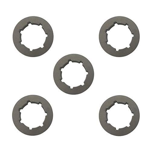 Cancanle 5 Stück .325 7T Kettenrad Felge für Husqvarna 340 345 346XP 350 353 357 359 50 51 55 40 45 Kettensäge klein 7 Spline