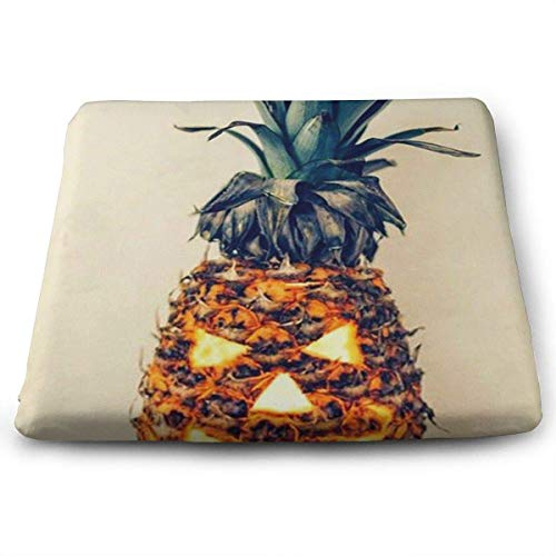 (keiwiornb Comfortable Seat Cushion Chair Pad Halloween Pineapple Perfect Memory Foam Cushions Lighten The Bumps)